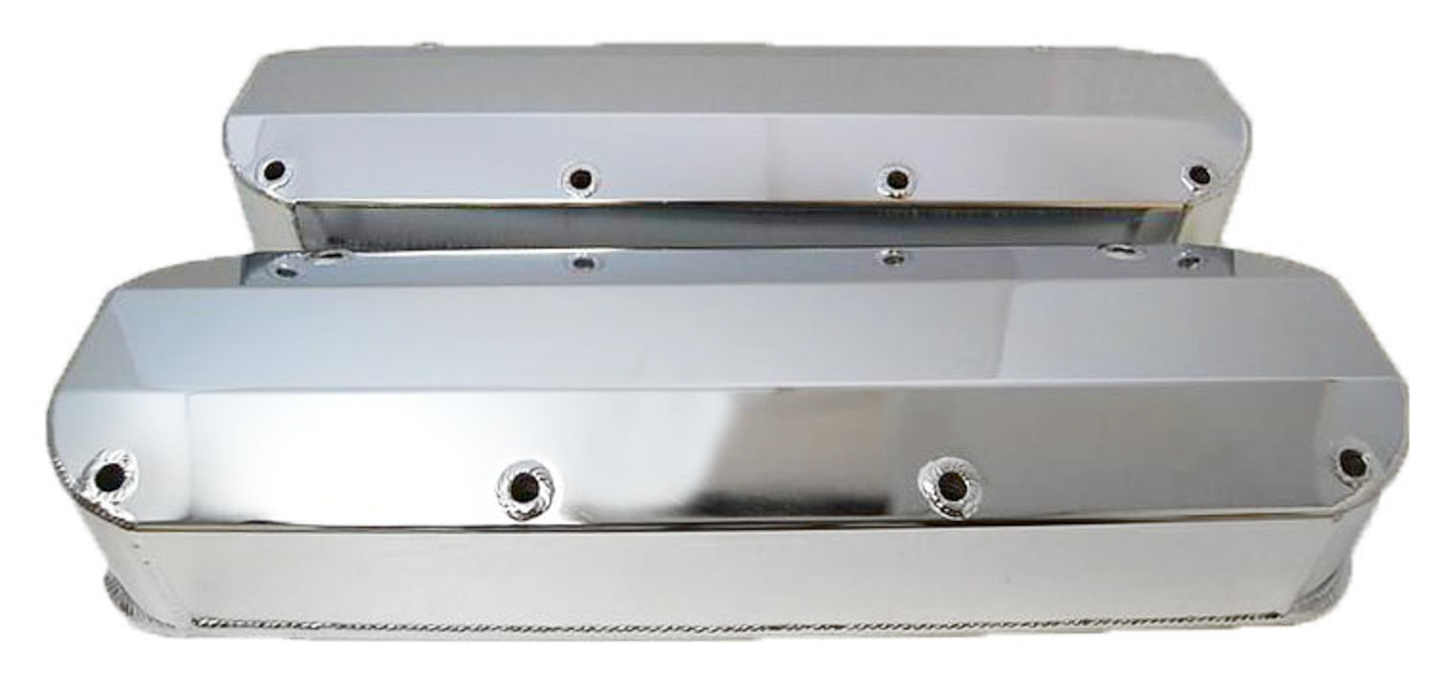 Racing Power Company R6355POL Aluminum Fabricated Valve Covers Ford 460