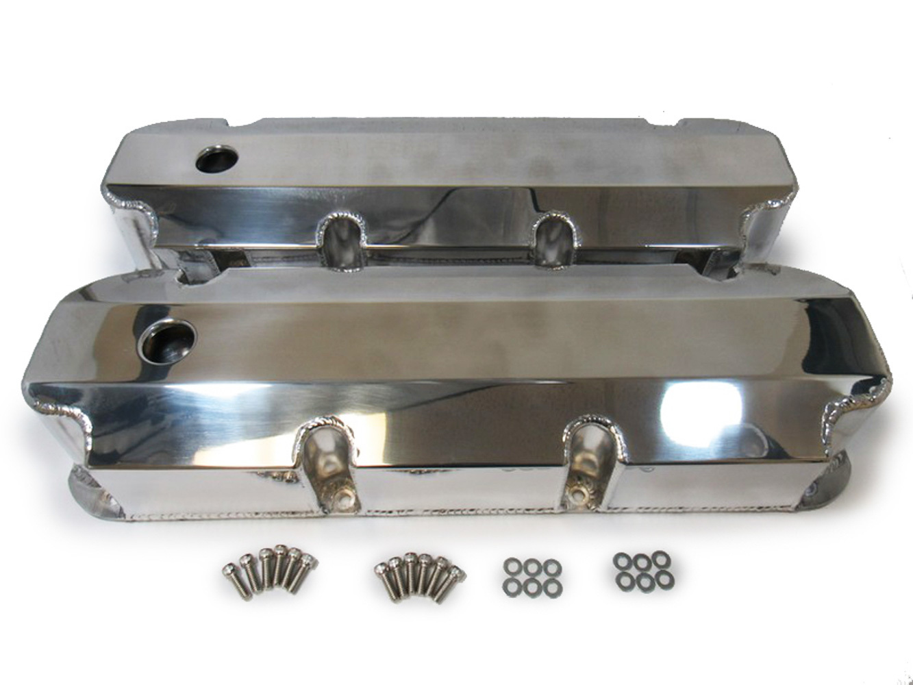Racing Power Company R6357POL Aluminum Valve Covers Ford 429-460