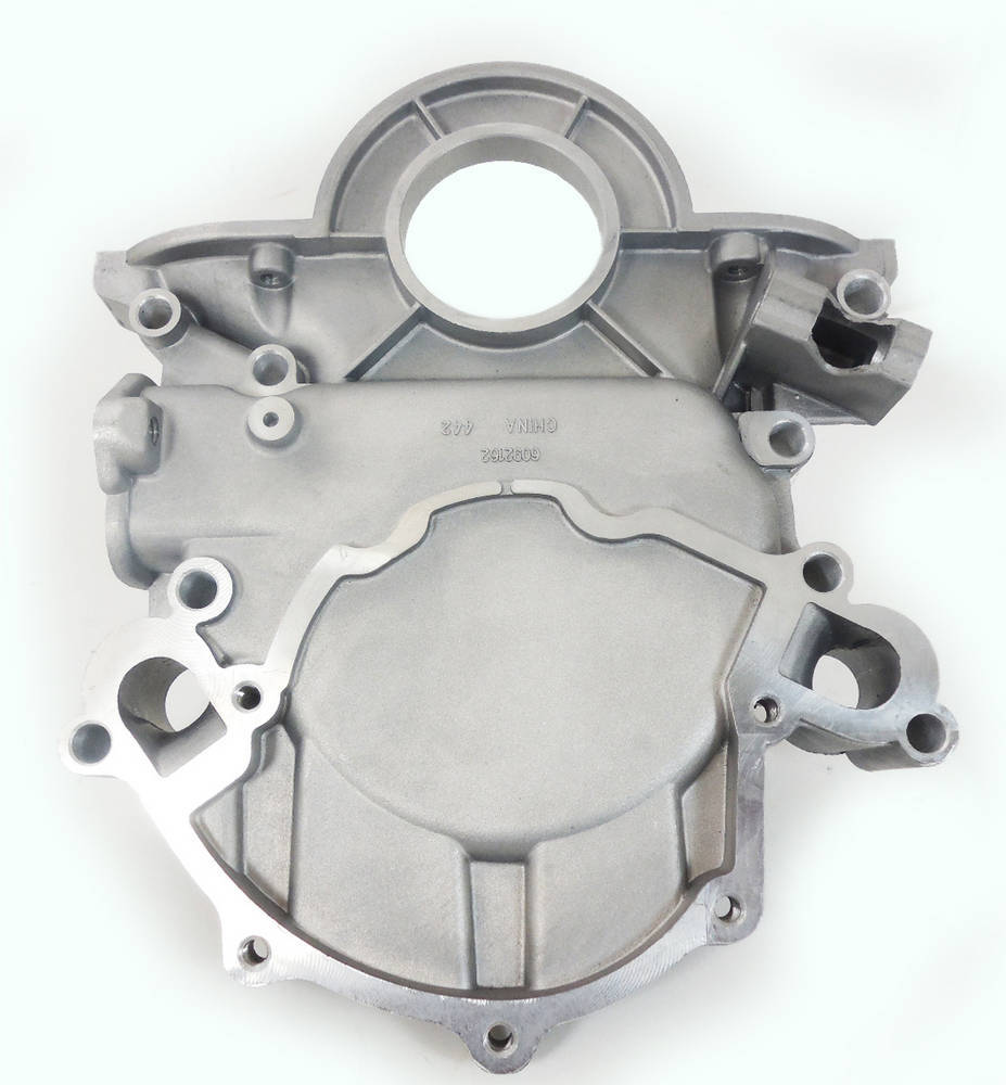Racing Power Company R6640 Timing Cover, 1 Piece, Aluminum, Natural, Small Block Ford, Each
