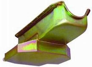Racing Power Company R7101Z Engine Oil Pan, Rear Sump, 7 qt, 7 in Deep, Steel, Zinc, Small Block Chevy, Each