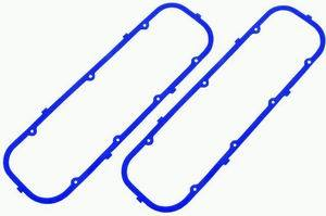 Racing Power Company R7485X Valve Cover Gasket, 0.187 in Thick, Steel Core Silicone Rubber, Big Block Chevy, Pair