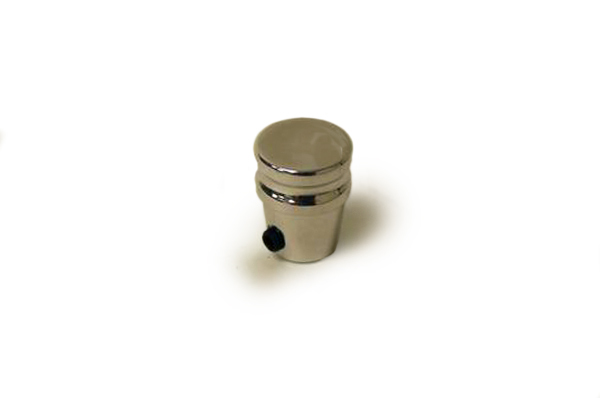 Racing Power Company R8401POL Dash Knob, 1/4 in Hole, Allen Set Screw, Aluminum, Polished, Universal, Each