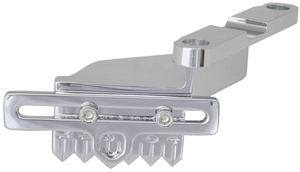 Racing Power Company R8427 Timing Pointer, Hardware Included, Aluminum, Polished, 8 in OD Balancer, Big Block Chevy, Each