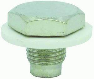 Racing Power Company R9062 Drain Plug, 1/2-20 in Thread, 3/4 in Hex Head, Nylon Washer, Magnetic, Steel, Zinc Oxide, Each