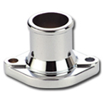 Racing Power Company R9331 Water Neck, Straight, 1-1/2 in ID Hose, O-Ring / Hardware Included, Steel, Chrome, Ford Cleveland / Modified, Each