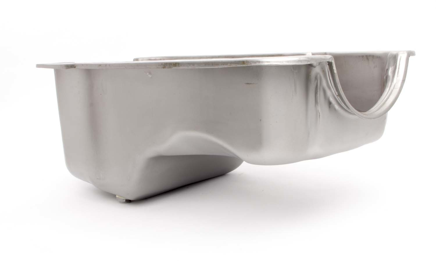 Racing Power Company R9532RAW Engine Oil Pan, Front Sump, Stock Depth, Steel, Natural, Small Block Ford, Each