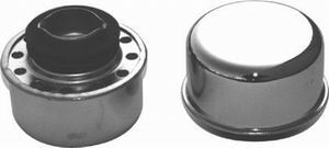 Racing Power Company R9617 Breather, Twist-On, Round, Steel, Chrome, Oil Filler Cap, Each