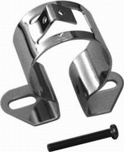 Racing Power Company R9648 Ignition Coil Bracket, Canister Style, Remote Mount, Steel, Chrome, Universal, Each