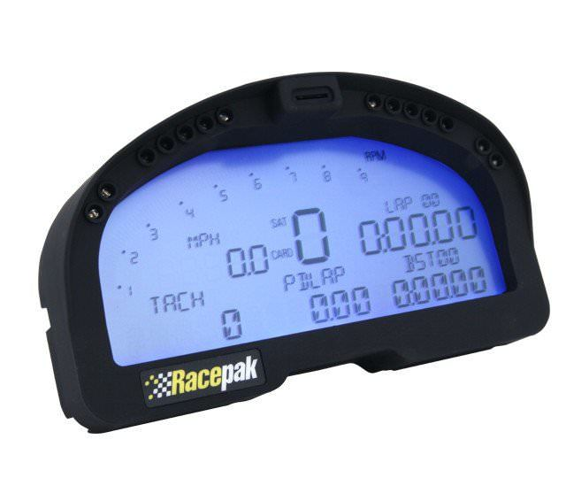 Racepak 250-DS-IQ3 Digital Dash, IQ3, V-Net System, USB Programming Cable Included, Black, Racepak Digital Dashes, Each