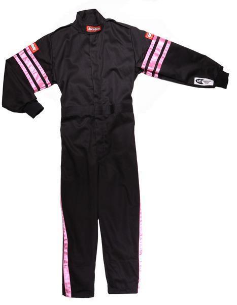 Black Suit Single Layer Kids X-Small Pink Trim