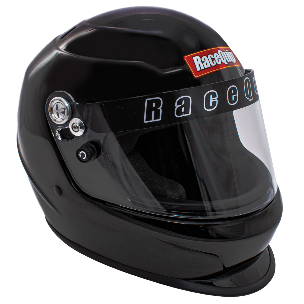 Racequip 2260096 Helmet, Pro Youth, SFI 24.1, Head and Neck Support Ready, Black, Youth One Size Fits All, Each