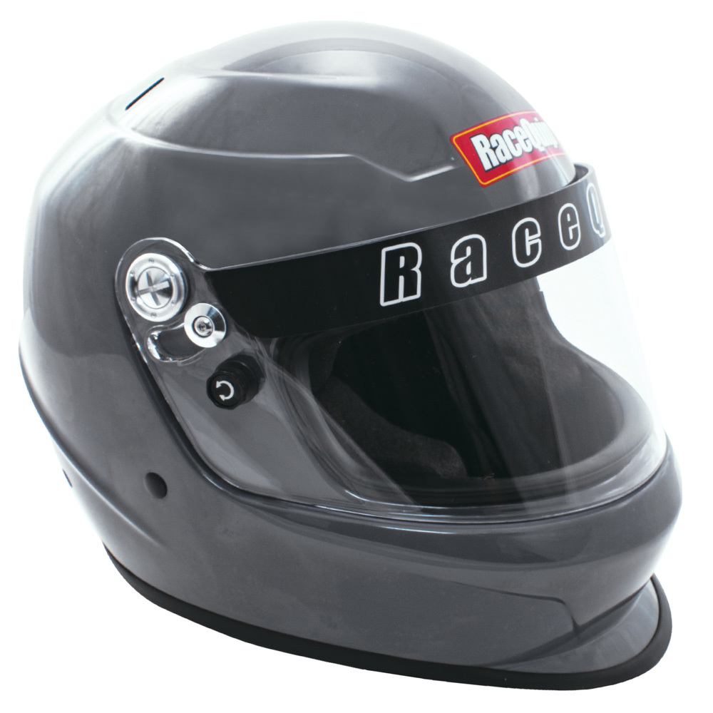Racequip 2266696 Helmet, Pro Youth America, SFI 24.1, Head and Neck Support Ready, Gray, Youth One Size Fits All, Each