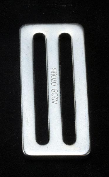 Racequip 700075 Harness Slide Adjuster, Slide Bar, 3 in Belt, Steel, Each