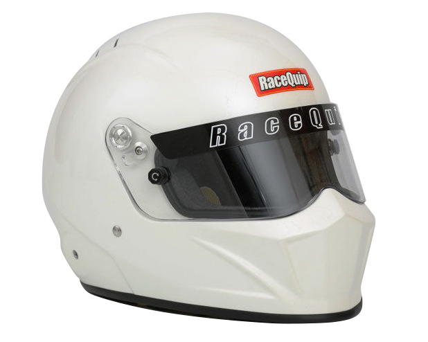 Racequip 92431179 Helmet, Matrix VESTA15, Full Face, Snell SA2015, FIA Approved, Head and Neck Support Ready, White, 2X-Large, Each