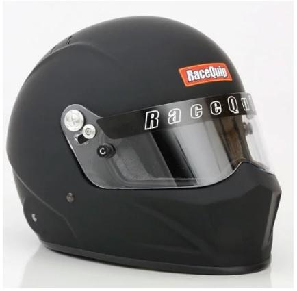 Racequip 92439939 Helmet, Matrix VESTA15, Full Face, Snell SA2015, FIA Approved, Head and Neck Support Ready, Flat Black, Medium, Each