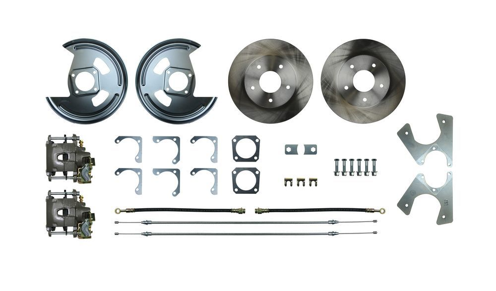 Right Stuff Detailing AFXRD07 Brake System, Disc Conversion, Rear, 1 Piston Caliper, 11.250 in Rotor, Offset Hat, Iron, Natural, GM F-Body 1975-81, Kit
