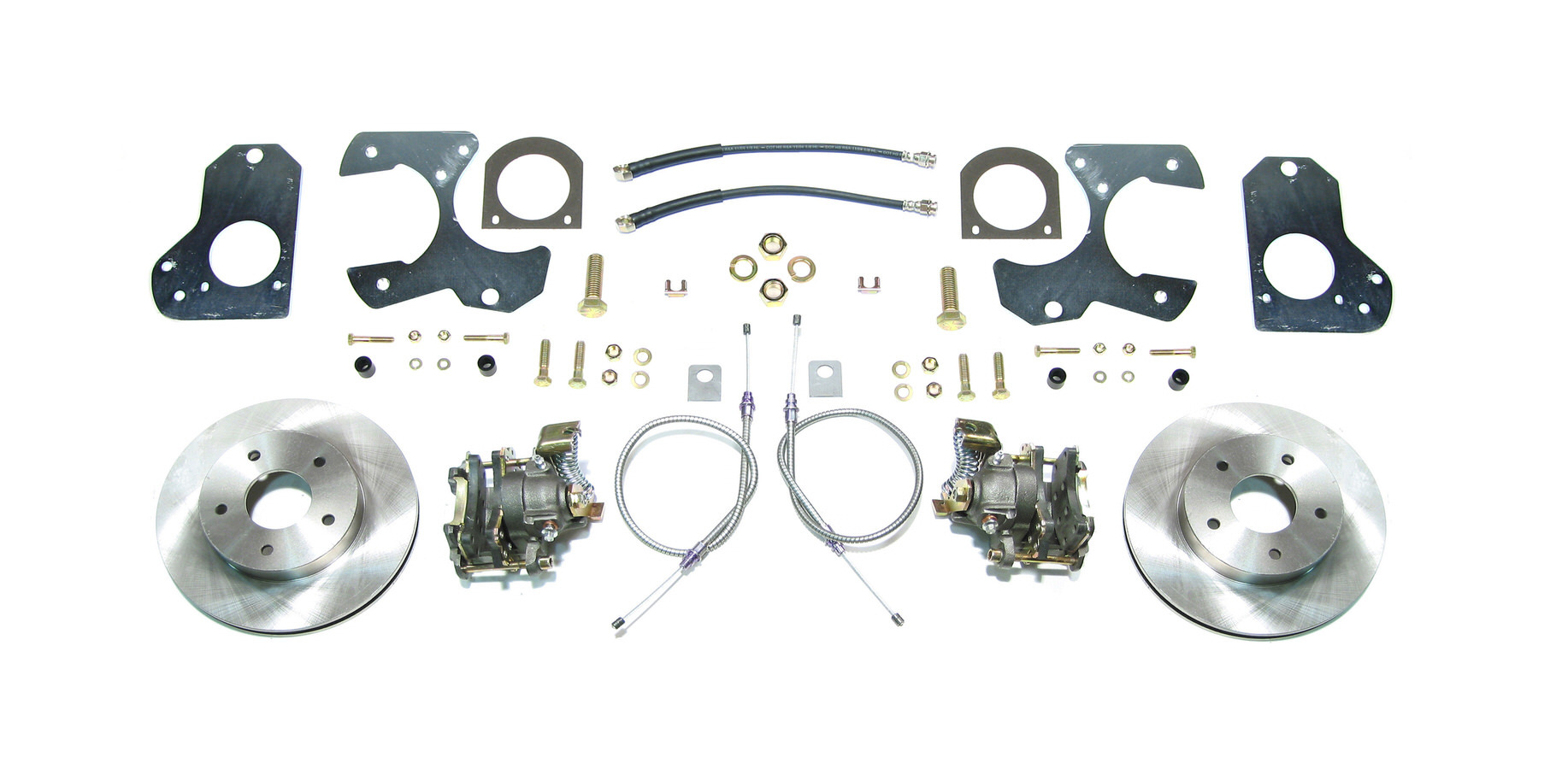 Right Stuff Detailing AFXRD78 Brake System, Disc Conversion, Rear, 1 Piston Caliper, 11.000 in Rotor, Offset Hat, Iron, Natural, GM 10-Bolt 1978-88, Kit