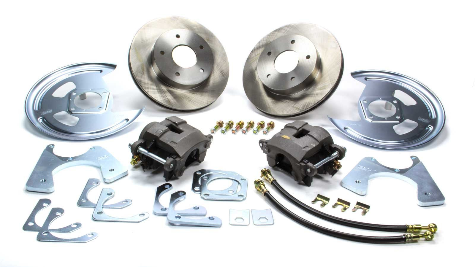 Right Stuff Detailing AFXRDM1 Brake System, Disc Conversion, Rear, 1 Piston Caliper, 11.000 in Rotor, Offset Hat, Iron, Natural, GM 10-Bolt / 12-Bolt, Kit