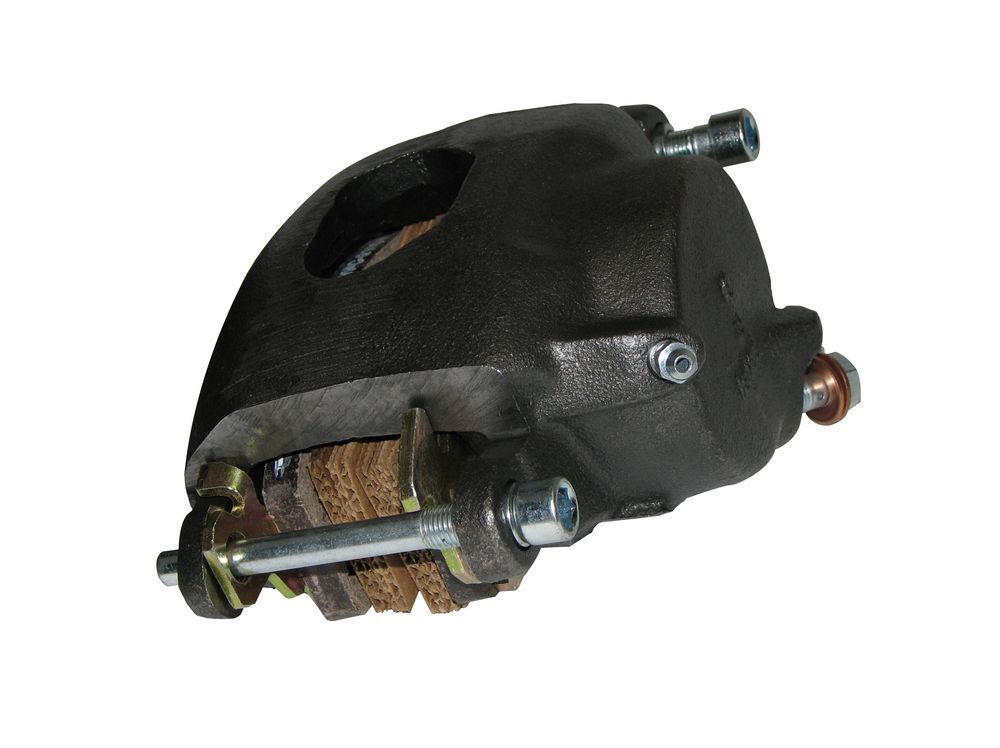 Right Stuff Detailing BC15N Brake Caliper, Passenger Side, Large GM, 1 Piston, Cast Iron, Natural, 2.813 in Bore, 1.000 in Thick Rotor Maximum, 7.060 Floating Mount, Each