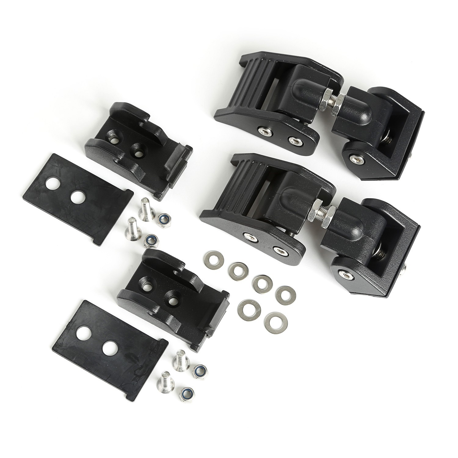 Hood Latches Textured Bl ack 18- Jeep Wrangler JL
