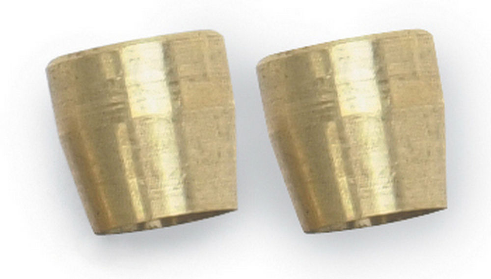Russell 620405 Compression Ferrule, 6 AN, 3/8 in Tube, Brass, Natural, Pair