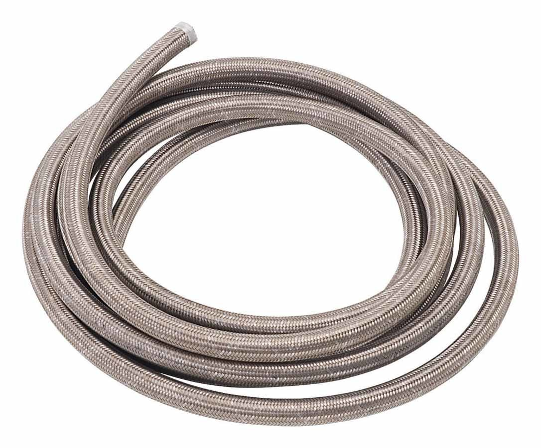 Russell 632000 Hose, Proflex, 4 AN, 3 ft, Braided Stainless, Rubber, Natural, Each