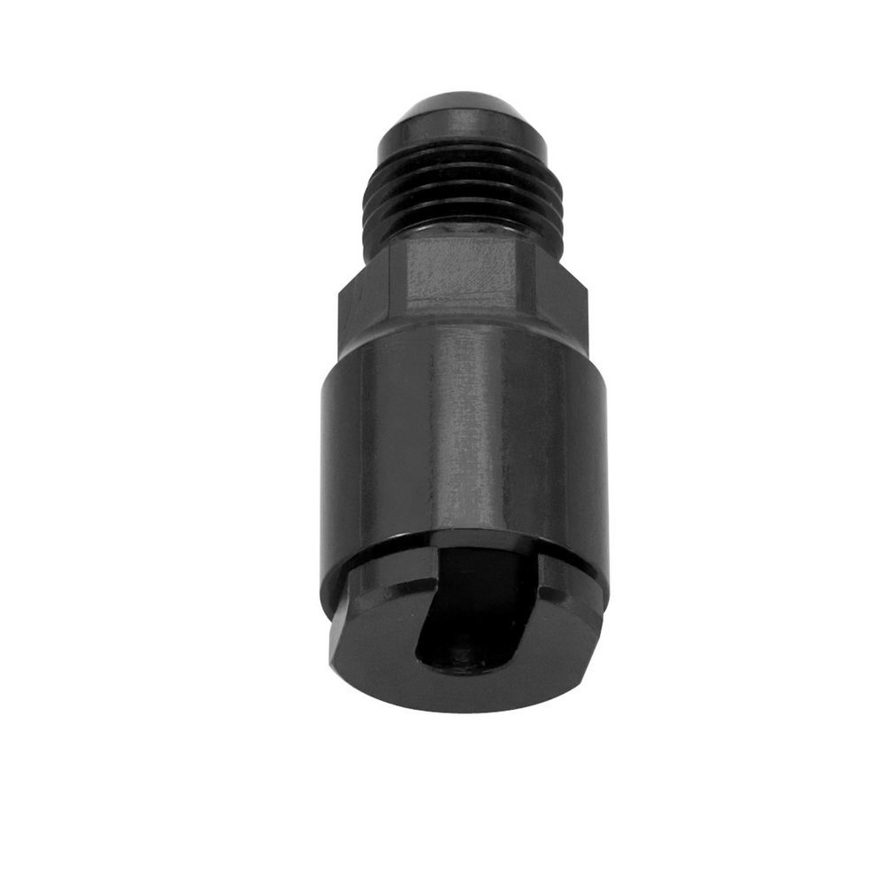 Russell 641303 Fitting, Adapter, Straight, 6 AN Male to 1/4 in SAE Female Quick Disconnect, Aluminum, Black Anodize, Each