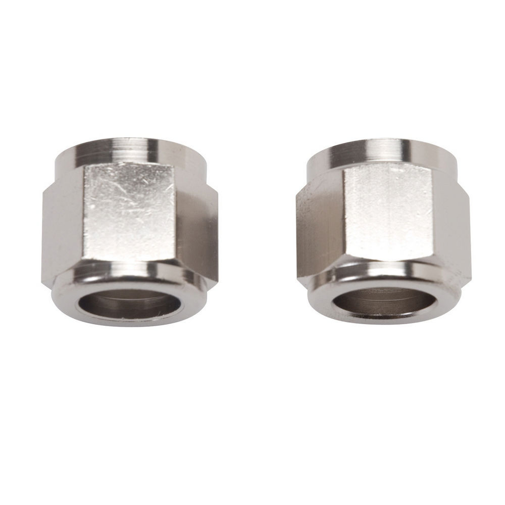 Russell 660571 Fitting, Tube Nut, 6 AN, 3/8 in Tube, Aluminum, Nickel Anodize, Pair