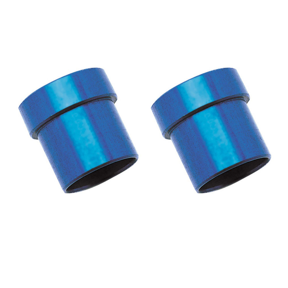 Russell 660650 Fitting, Tube Sleeve, 6 AN, 3/8 in Tube, Aluminum, Blue Anodize, Pair