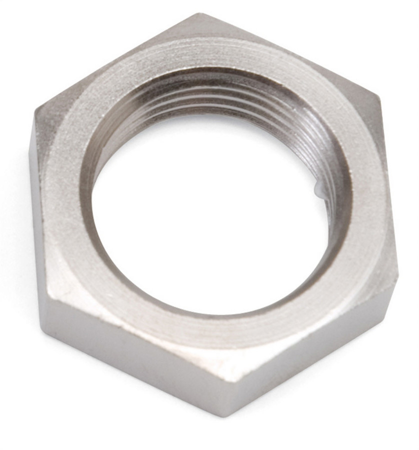 Russell 661891 Bulkhead Fitting Nut, 6 AN, Aluminum, Chrome Plated, Each