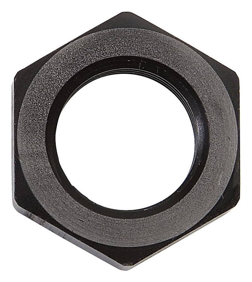 Russell 661893 Bulkhead Fitting Nut, 6 AN, Aluminum, Black Anodized, Each