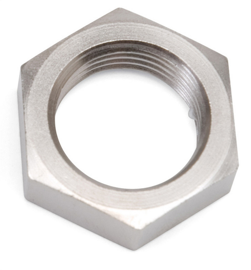 Russell 661901 Bulkhead Fitting Nut, 8 AN, Aluminum, Chrome Plated, Each