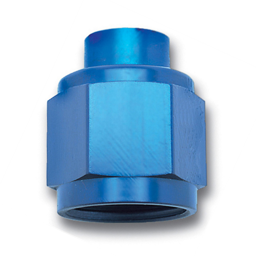 Russell 661960 Fitting, Cap, 6 AN, Aluminum, Blue Anodize, Each
