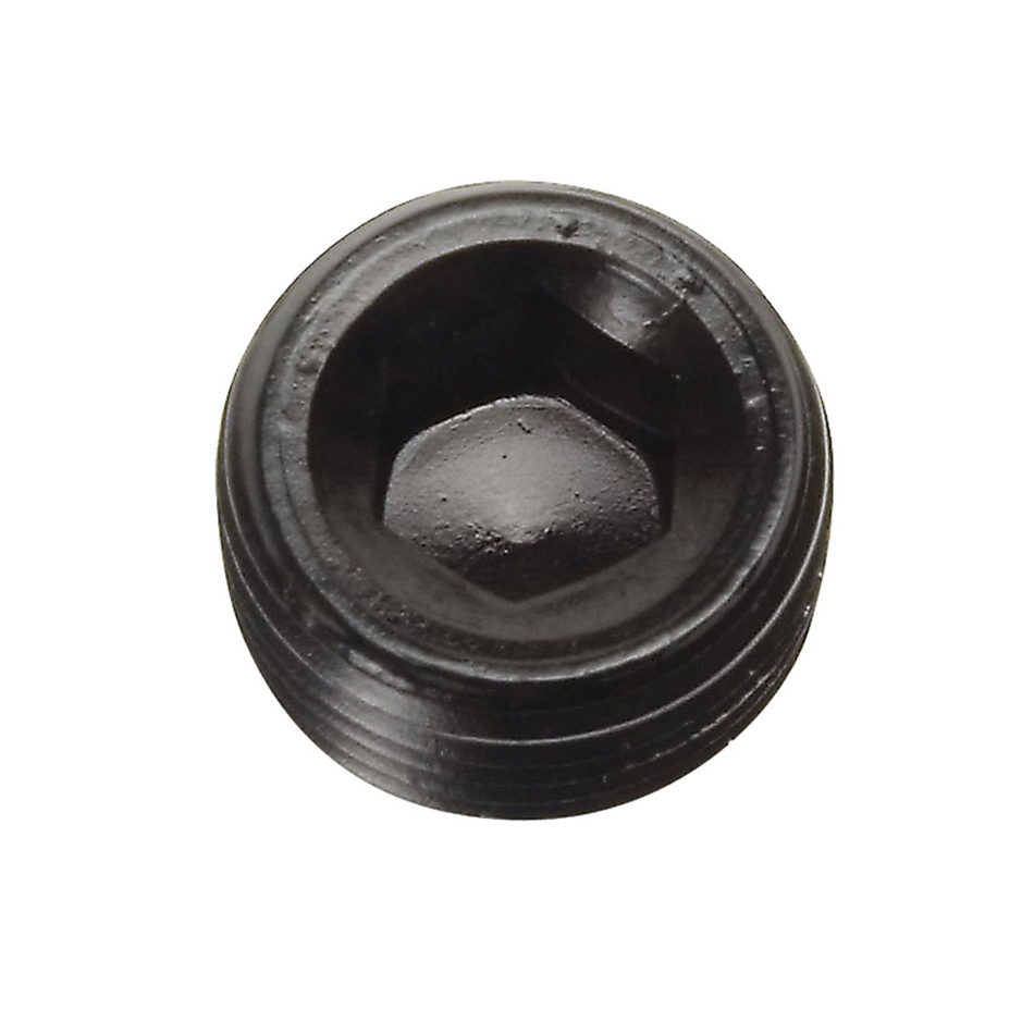 Russell 662053 Fitting, Plug, 3/8 in NPT, Allen Head, Aluminum, Black Anodize, Pair