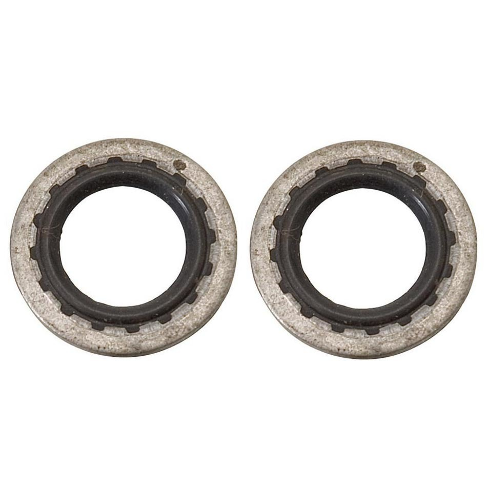 Russell 683900 Sealing Washer, Stat-O-Seal, 9/16 in ID, Aluminum Washer, Buna N O-Ring, Pair