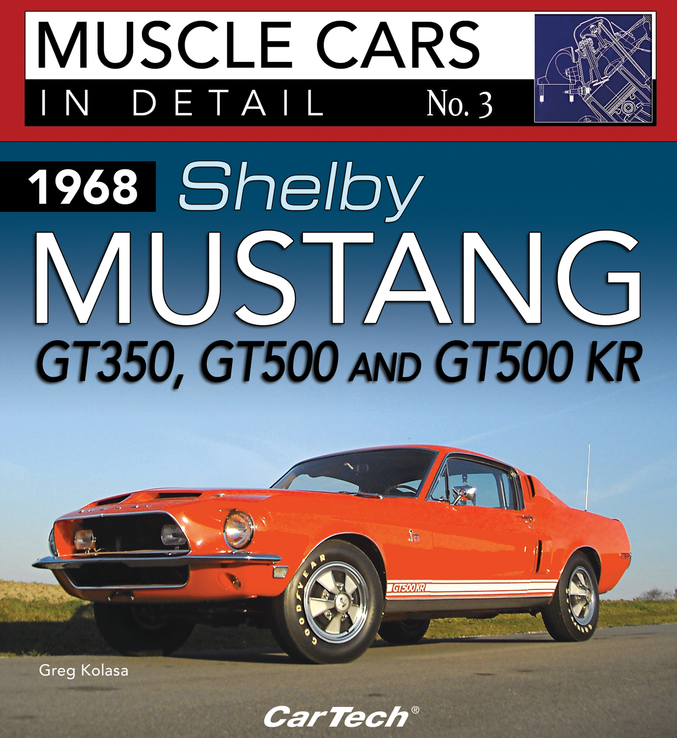 S-A Books CT572 Book, Shelby Mustang 1968, 96 Pages, Paperback, Each