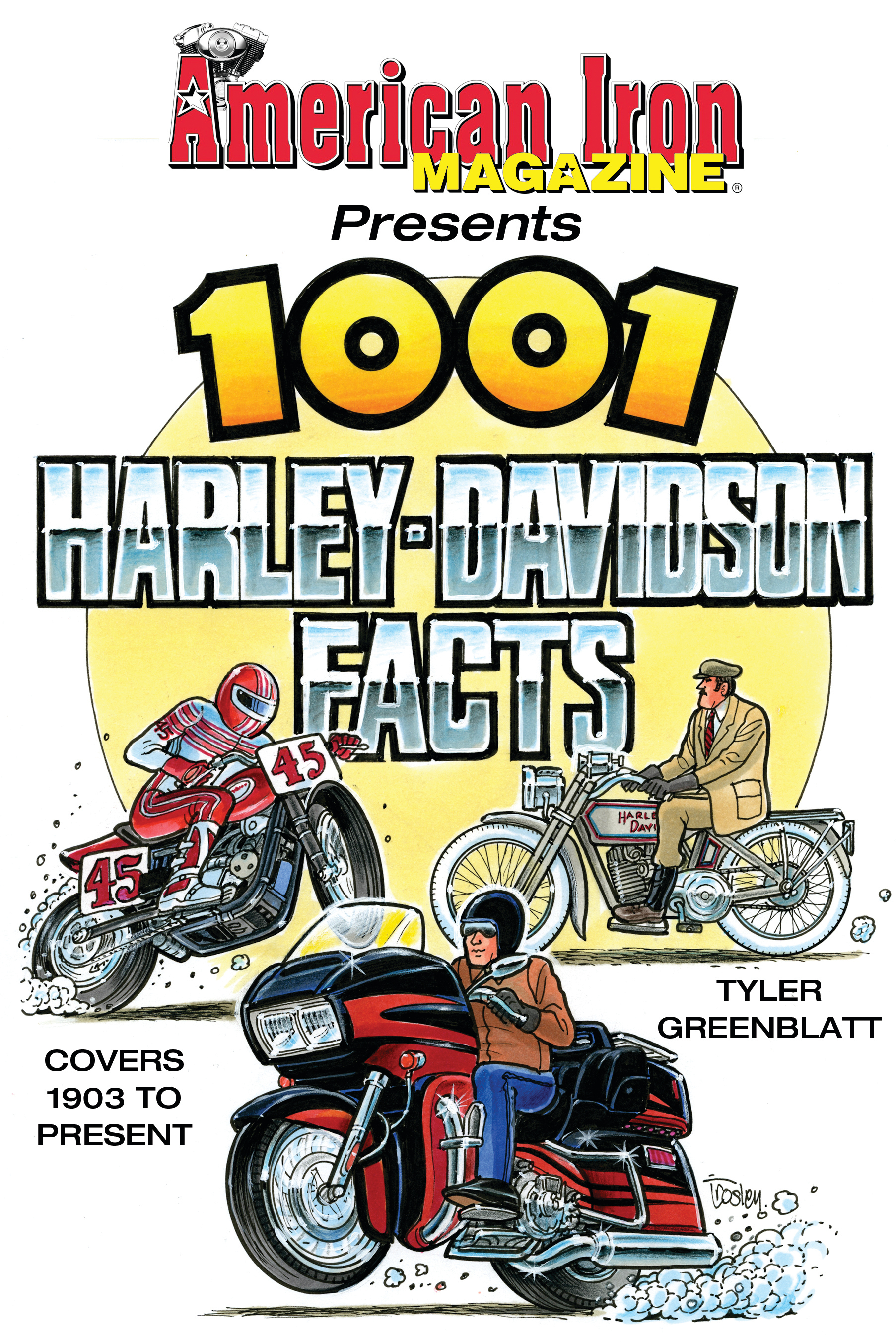 S-A Books CT575 Book, 1001 Harley-Davidson Facts, 352 Pages, Paperback, Each
