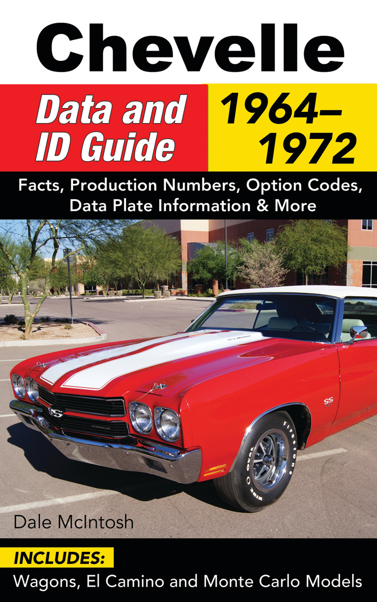 S-A Books CT577 Book, Chevelle Data and ID Guide 1964-1972, 240 Pages, Paperback, Each