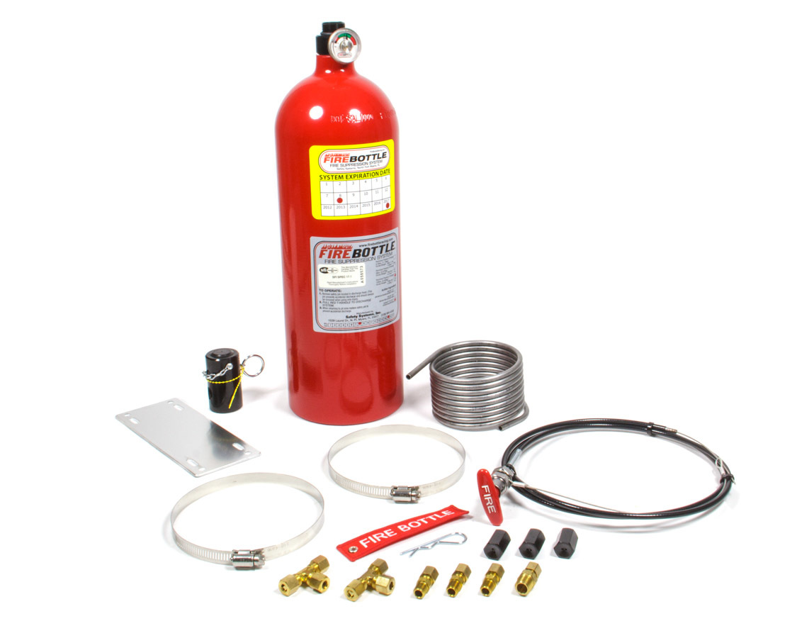 Safety Systems PRC-1010 Fire Suppression System, RC, Manual, FE-36, SFI Rated, 10.0 lb Bottle, Fittings / Hose / Mount / Pull Cable, Kit