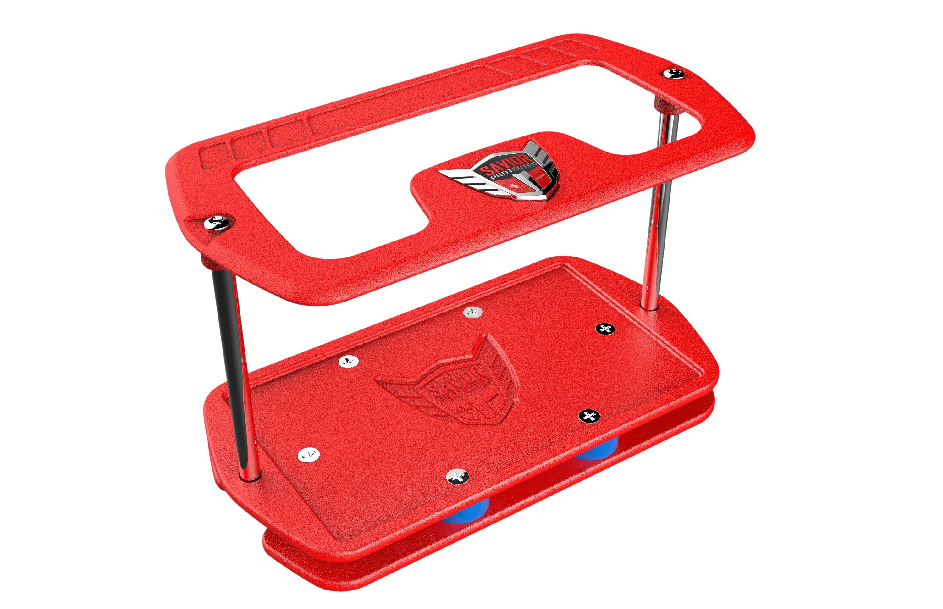 Savior Products PC-27-R Battery Tray, 15-3/8 x 8 in, Aluminum, Red Powder Coat, BCI Group 27, Kit