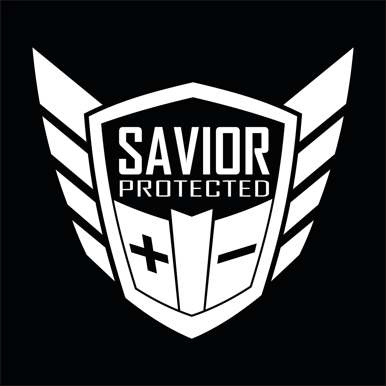 Savior Window Decal Each White
