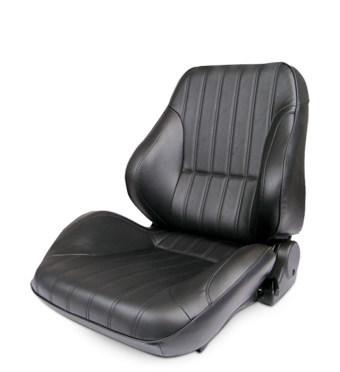 Scat 80-1050-51L Seat, Rally Lowback Series 1050, Drivers Side, Sliders, Reclining, Vinyl, Black, Each