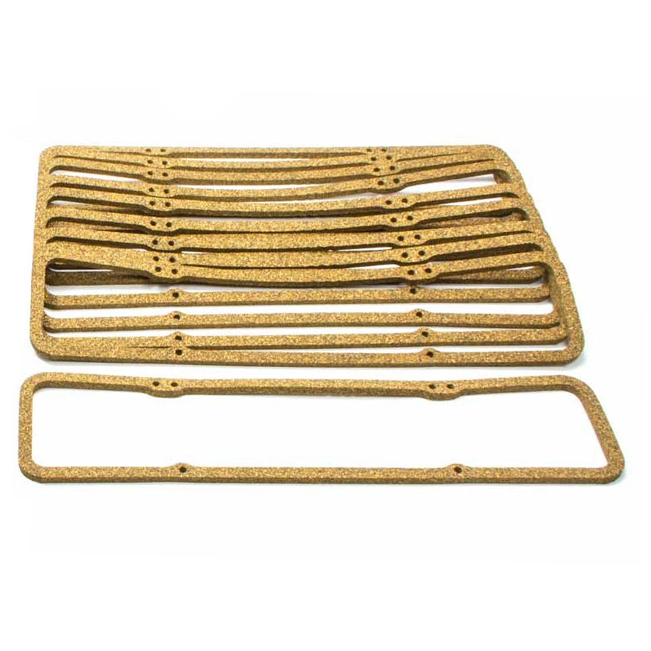 SCE Gaskets 11076-10 Valve Cover Gasket, 0.313 in Thick, Cork, Small Block Chevy, Set of 10