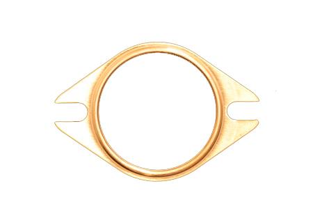 SCE Gaskets 4200 Collector Gasket, Pro Copper, 2-1/2 in Diameter, 2-Bolt, Copper, Each