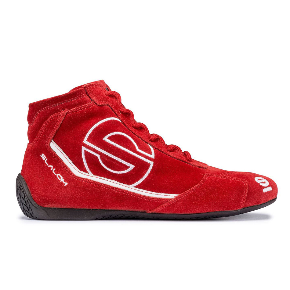 Sparco 00126646RSNR Shoe, Slalom RB-3, Driving, Mid-Top, SFI 3.3/5, FIA Approved, Suede Outer, Fire Retardant Inner, Red, Euro 46, Pair