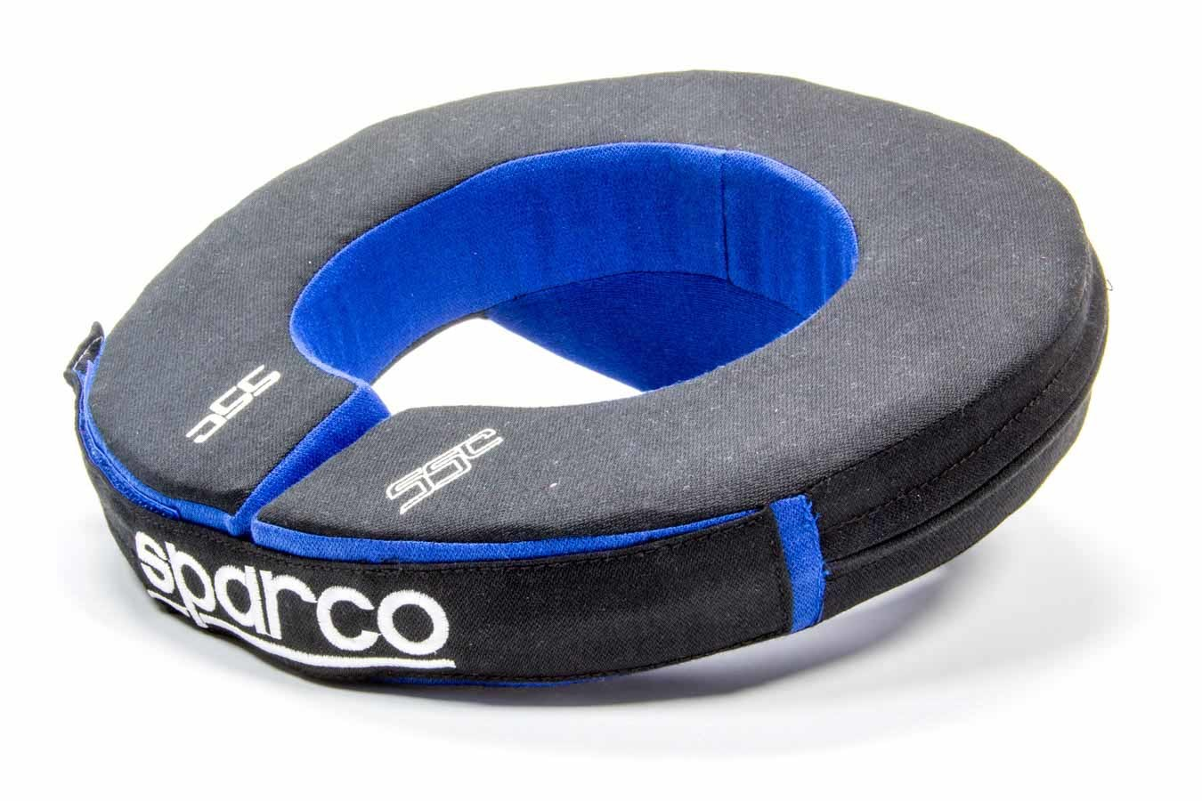 Sparco 001603AZNR Neck Support, Padded, Nomex, Black / Blue, Each