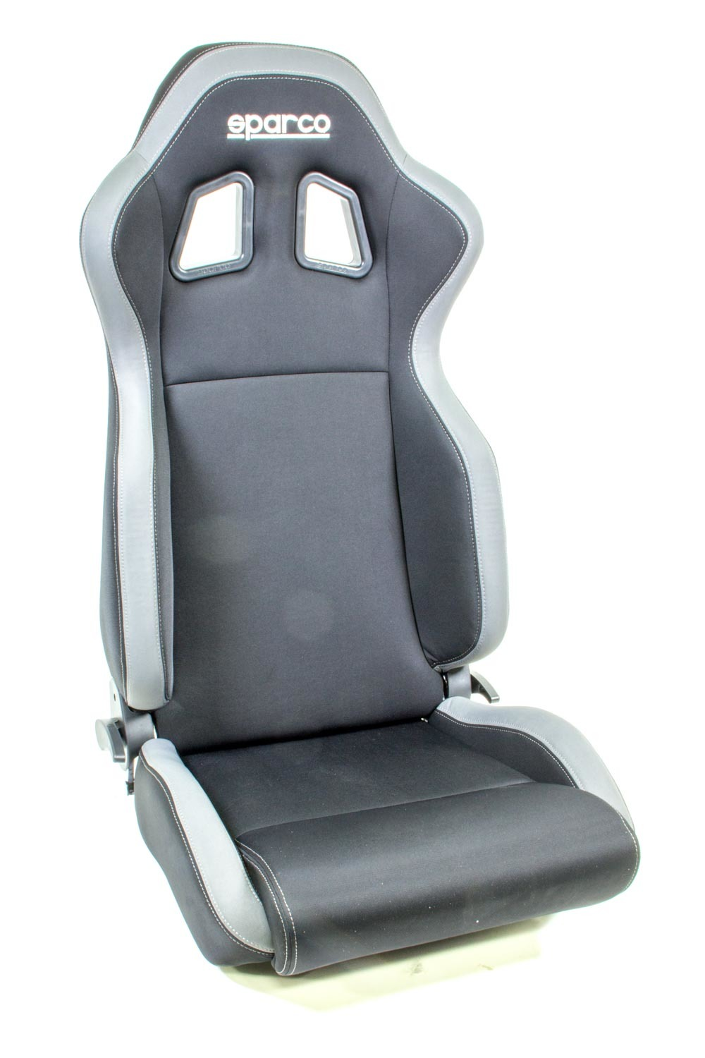 Sparco 00961NRGR Seat, R100, Reclining, Side Bolsters, Harness Openings, Fiberglass Composite, Fabric, Gray / Black, Each