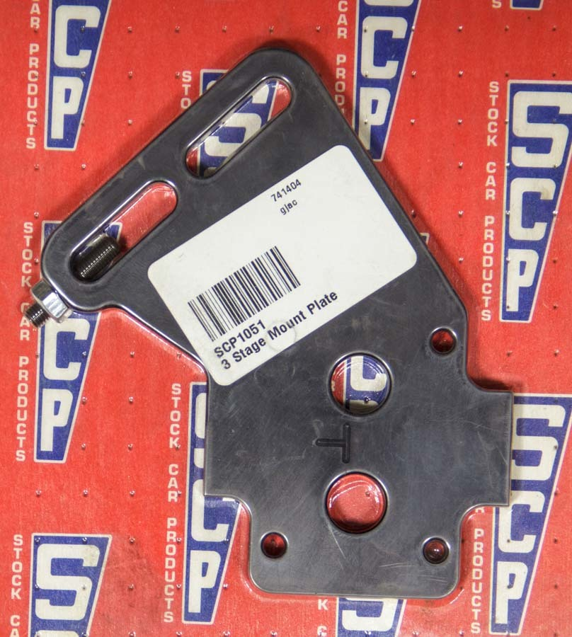 Stock Car Products 1051 Oil Pump Bracket, External, Dry Sump, Aluminum, Black Anodize, Bert / Brinn Mount, Each