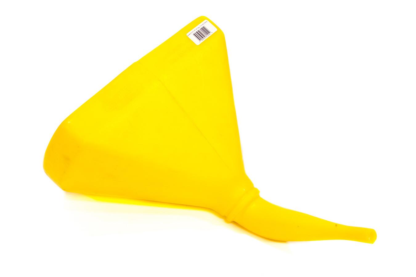 Scribner 6115Y Funnel, 14 in D-Shape, 45 Degree, Plastic, Yellow, Each