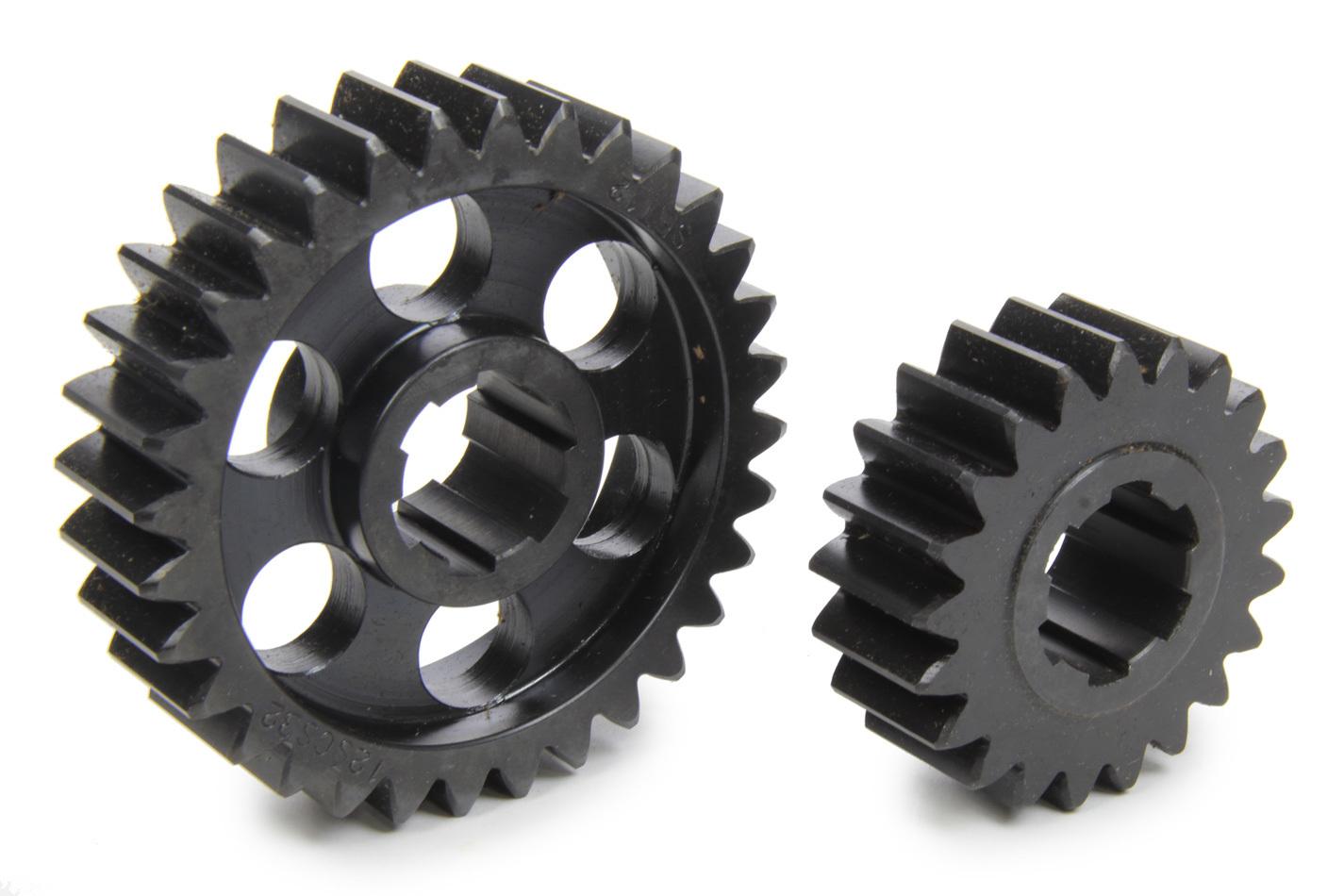 SCS Gears 612 Quick Change Gear Set, Professional, Set 612, 6 Spline, 4.11 Ratio 2.70 / 6.26, 4.33 Ratio 2.84 / 6.60, Steel, Each